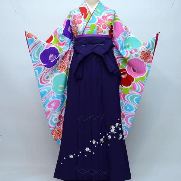 着物袴セット ジュニア用 145cm~154cm 生地:日本製 ブランド:Lako Kura 卒業式にどうぞ! 新品(株)安田屋 m174881880