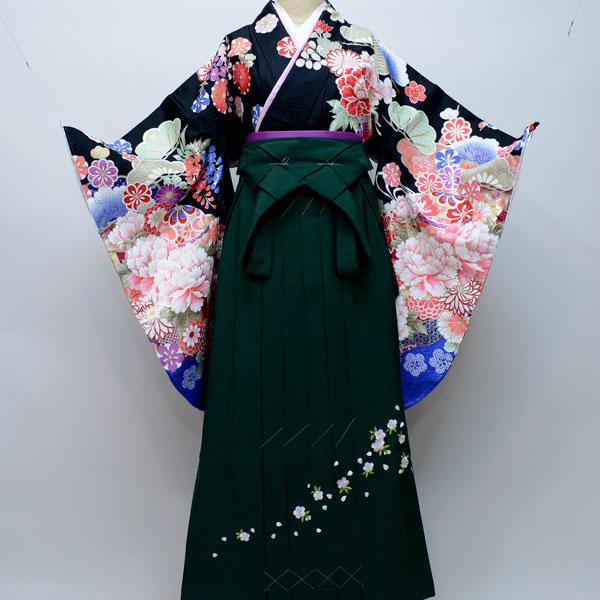 着物袴セット ジュニア用へ直し144cm~150cm From KYOTO 卒業式にどうぞ! 新品 (株)安田屋 d206029245