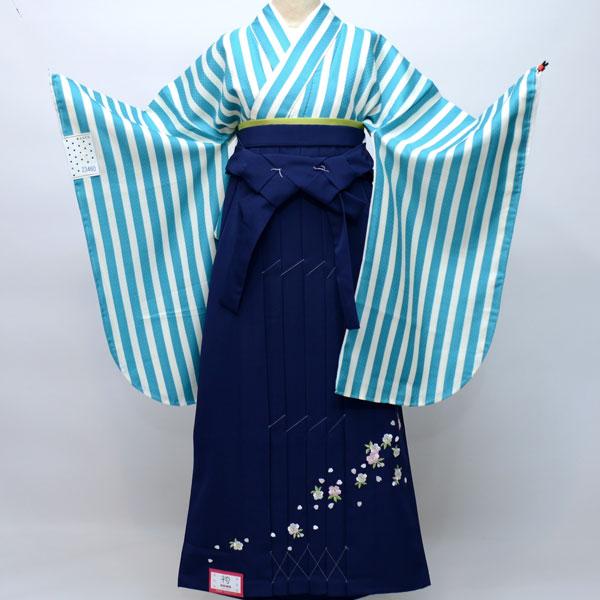 二尺袖着物袴フルセット ANEN 袴変更可能 着物生地は日本製 袴と縫製は海外 卒業式に 卒業式に 新品 (株)安田屋 q172247458