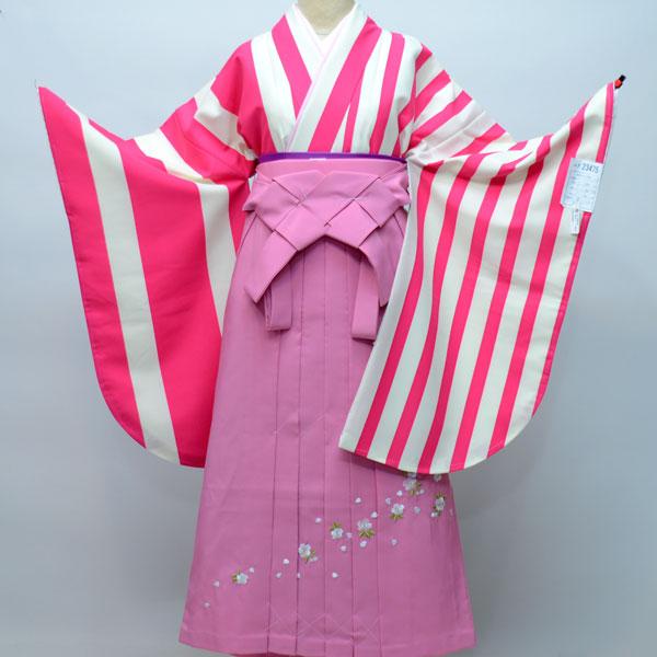 着物袴セット ジュニア用へ直し144cm~150cm 着物生地:日本製 卒業式にどうぞ! 新品 (株)安田屋 g192658111