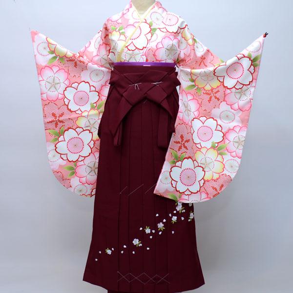 着物袴セット ジュニア用へ直し144cm~150cm 着物生地:日本製 卒業式にどうぞ! 新品 (株)安田屋 f193291595