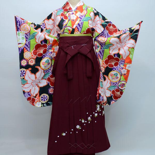 着物袴セット ジュニア用へ直し135cm~143cm 和遊日 卒業式にどうぞ! 新品 (株)安田屋 v477589131