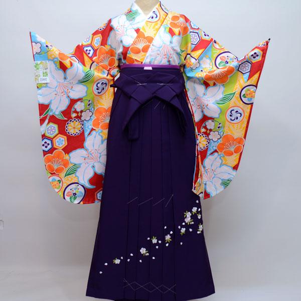 着物袴セット ジュニア用へ直し135cm~143cm 和遊日 卒業式にどうぞ! 新品 (株)安田屋 s506675452