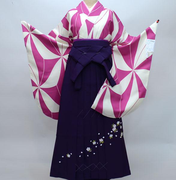 着物袴セット ジュニア用へ直し144cm~150cm 着物生地は日本製 袴と縫製は海外 卒業式に 新品 (株)安田屋 r176807395