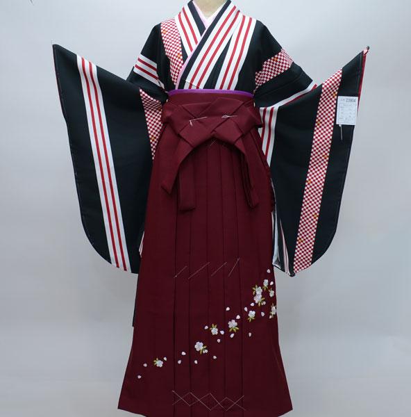 着物袴セット ジュニア用へ直し144cm~150cm 着物生地は日本製 縫製と袴は海外 袴変更可能 新品 (株)安田屋 v486013136
