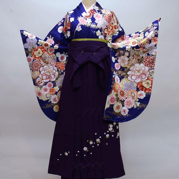 着物袴セット ジュニア用へ直し135cm~143cm From KYOTO 卒業式にどうぞ! 新品 (株)安田屋 m189508190