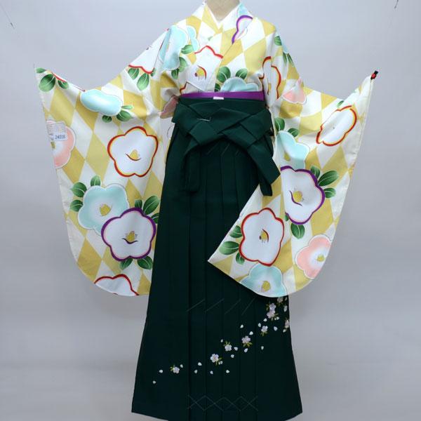 着物袴セット ジュニア用 145cm~154cm 着物生地は日本製 縫製は海外 卒業式にどうぞ! 新品 (株)安田屋 q146004179