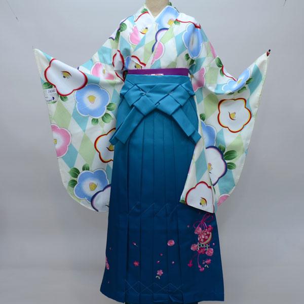 着物袴セット ジュニア用 145cm~154cm ぼかし袴 着物生地は日本製 縫製は海外 卒業式にどうぞ! 新品 (株)安田屋 v489052359