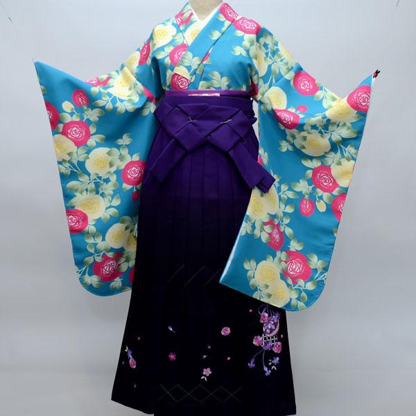 着物袴セット ジュニア用 145cm~154cm ぼかし袴 着物生地は日本製 縫製は海外 卒業式にどうぞ! 新品 (株)安田屋 v489052363