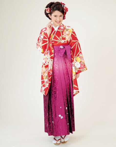 二尺袖着物袴フルセット 着物のブランド HL アッシュエル2018年最新モデル ショート丈 卒業式に 新品 (株)安田屋 l393583857