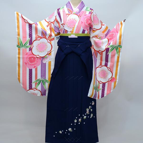 着物袴セット ジュニア用へ直し 144cm~150cm 豪華絢爛 着物生地は日本製 袴と縫製は海外 新品(株)安田屋 u152445293