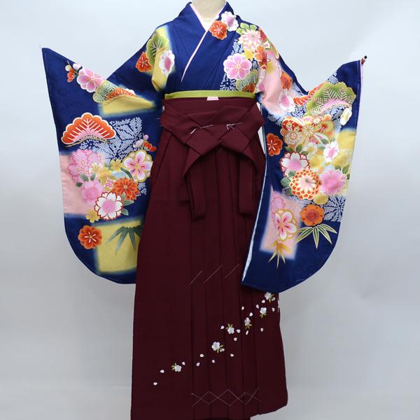 着物袴セット ジュニア用へ直し 144cm~150cm 豪華絢爛 着物生地は日本製 袴と縫製は海外 新品(株)安田屋 h272077287