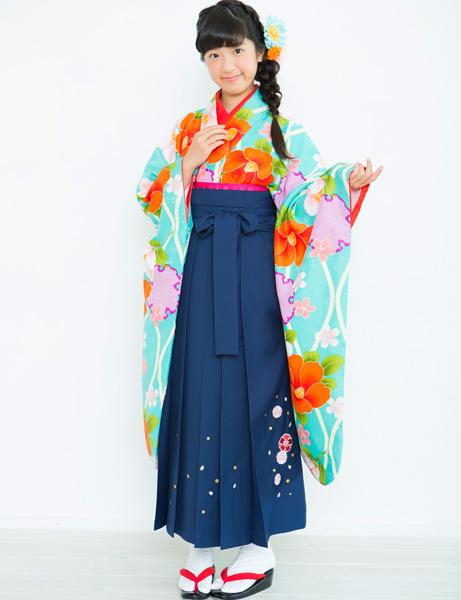 着物袴セット ジュニア用 145cm~154cm 着物ブランド:小町 半衿の色は白地 卒業式にどうぞ! 新品 (株)安田屋 r203224775