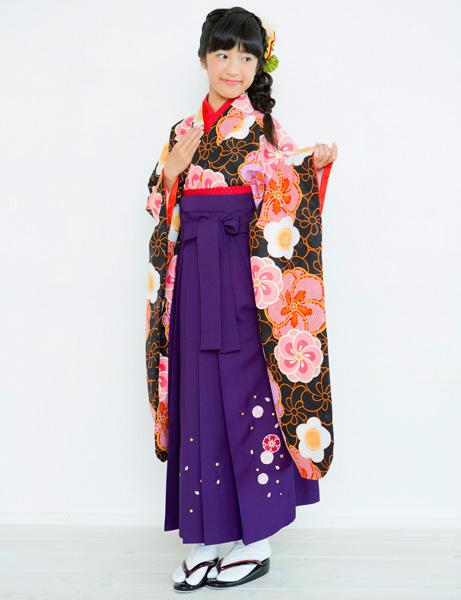 着物袴セット ジュニア用 145cm~154cm 着物ブランド 小町 半衿の色は白地 卒業式にどうぞ! 新品 (株)安田屋 h366638749