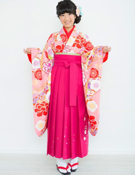 着物袴セット ジュニア用 145cm~154cm 着物ブランド:小町 半衿の色は白地 卒業式にどうぞ! 新品 (株)安田屋 r203224715