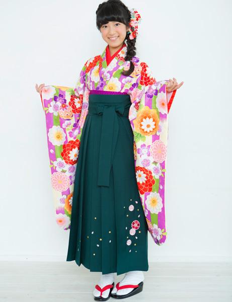 着物袴セット ジュニア用 145cm~154cm 着物ブランド:小町 半衿の色は白地 卒業式にどうぞ! 新品 (株)安田屋 s576723893