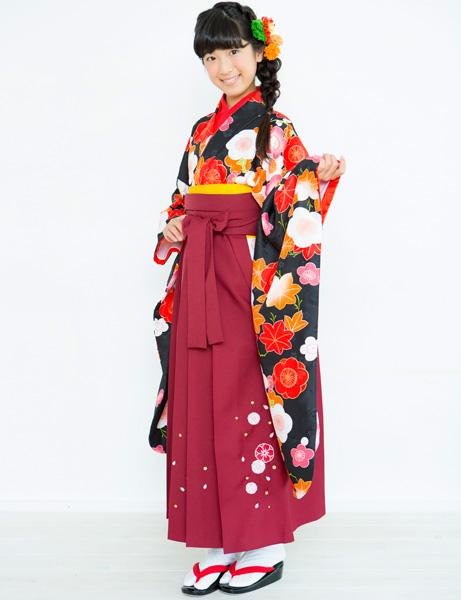 着物袴セット ジュニア用 145cm~154cm 着物ブランド 小町 半衿の色は白地 卒業式にどうぞ! 新品 (株)安田屋 c703059504