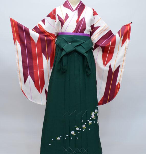 着物袴セット ジュニア用へ直し144cm~150cm 矢羽 矢絣柄 大柄 新品(株)安田屋 l402928480