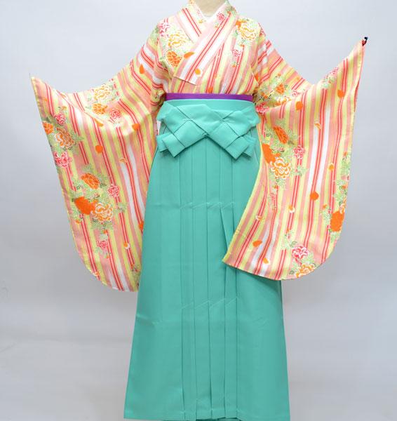 二尺袖着物袴フルセット ひさかたろまん 卒業式に!新品 (株)安田屋 r207341141