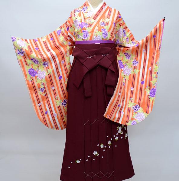 着物袴セット ジュニア用へ直し144cm~150cm ひさかたろまん 卒業式にどうぞ! 新品 (株)安田屋 c619427534