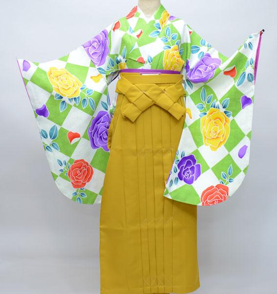 着物袴セット ジュニア用へ直し135cm~143cm ひさかたろまん 卒業式にどうぞ! 新品 (株)安田屋 o201774691