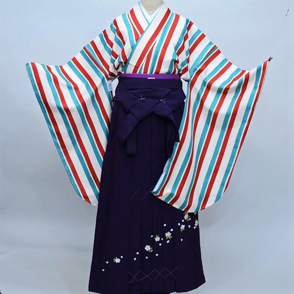 着物袴セット ジュニア用へ直し144cm~150cm 百花繚乱 新品(株)安田屋 h283449703