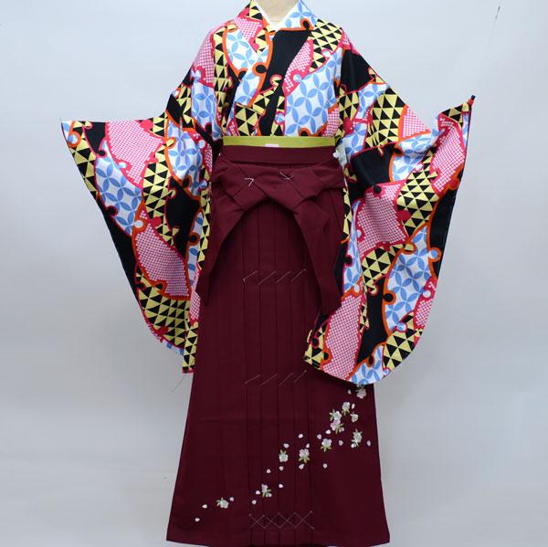 着物袴セット ジュニア用へ直し144cm~150cm 古都小町 卒業式にどうぞ! 新品 (株)安田屋 j458093529