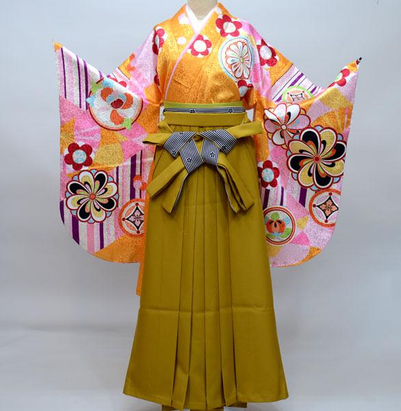 着物袴セット ジュニア用へ直し144cm~150cm From KYOTO 紐柄無地袴 新品(株)安田屋 e249530224