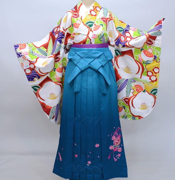着物袴セット ジュニア用へ直し135cm~143cm 和遊日 ぼかし刺繍袴 新品(株)安田屋 w203953684