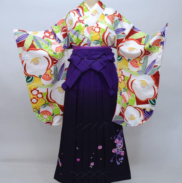 着物袴セット ジュニア用へ直し135cm~143cm 和遊日 ぼかし刺繍袴 新品(株)安田屋 x512194386