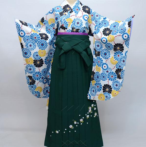 着物袴セット ジュニア用 適応身長140cm~158cm ショート丈 卒業式にどうぞ! 新品 (株)安田屋 n239710176