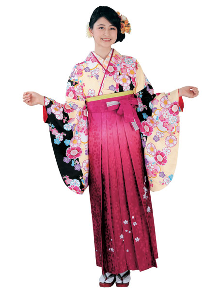着物 袴セット ジュニア用へ直し 144cm~150cm H・L アッシュ・エル 卒業式にどうぞ! 新品 (株)安田屋 j495553054