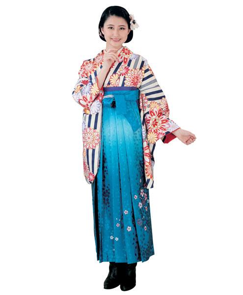 着物 袴セット ジュニア用へ直し 144cm~150cm H・L アッシュ・エル 卒業式にどうぞ! 新品 (株)安田屋 d291439114