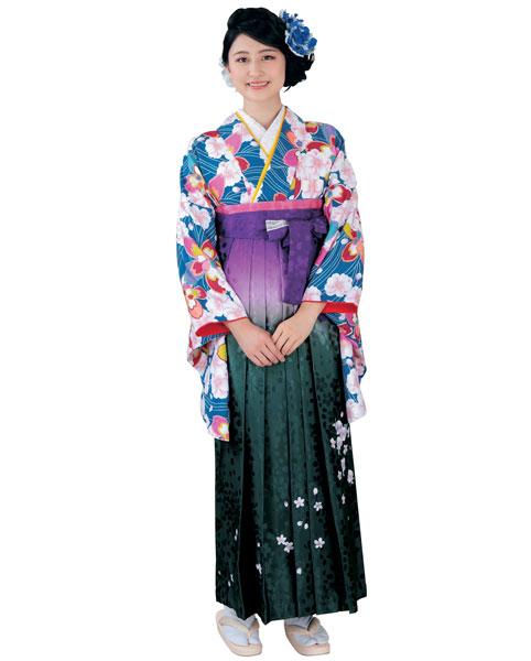 着物 袴セット ジュニア用へ直し 144cm~150cm H・L アッシュ・エル 卒業式にどうぞ! 新品 (株)安田屋 r253573264