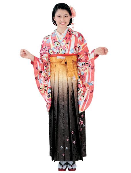 着物 袴セット ジュニア用へ直し 135cm~143cm H・L アッシュ・エル 卒業式にどうぞ! 新品 (株)安田屋 c663592021