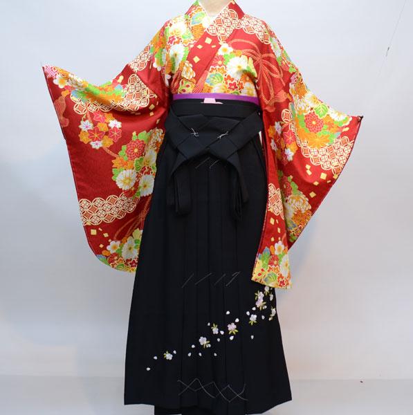 着物袴セット ジュニア用へ直し135cm~143cm 豪華絢爛 新品(株)安田屋 m273453012