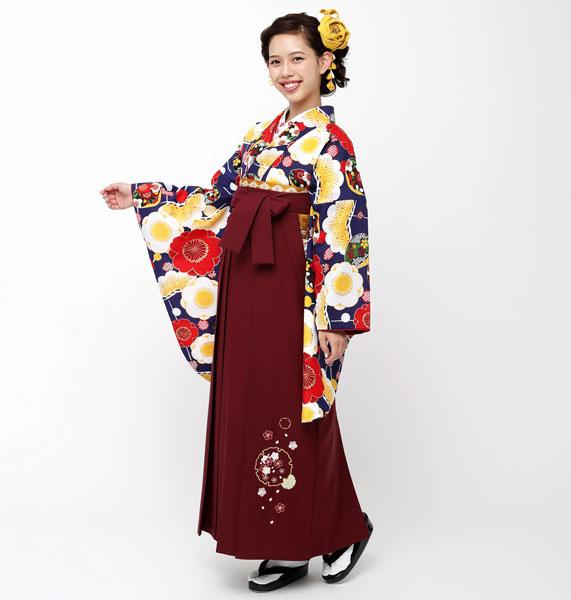着物袴セット ジュニア用へ直し144cm~150cm 夢千代 卒業式にどうぞ! 新品 (株)安田屋 h338745260