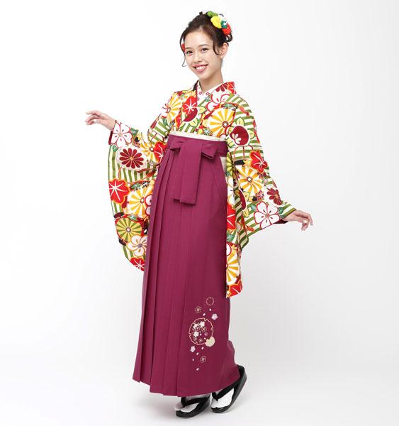 着物袴セット ジュニア用へ直し135cm~143cm 夢千代 卒業式にどうぞ! 新品 (株)安田屋 f289851160