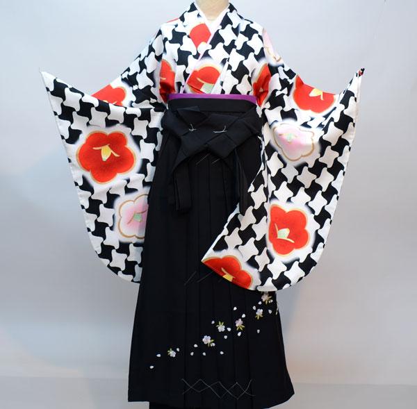 着物袴セット ジュニア用へ直し144cm~150cm 豪華絢爛 椿 新品(株)安田屋 t589437560