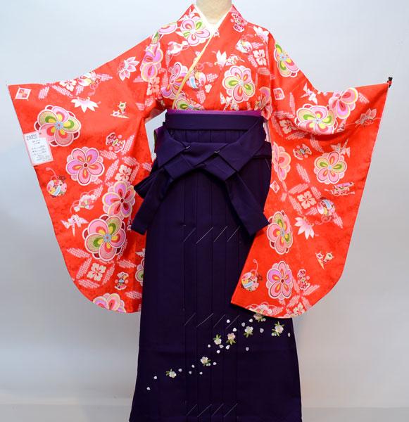 着物袴セット ジュニア用へ直し144cm~150cm 百花斉放 新品(株)安田屋 s603624297