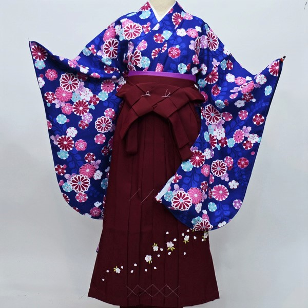二尺袖 着物袴フルセット 百花斉放 着物丈は着付けし易いショート丈 新品(株)安田屋 h297951685