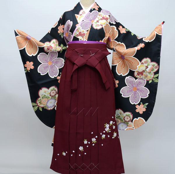 着物袴セット ジュニア用へ直し144cm~150cm 袴変更可能 着物生地は日本製 袴と縫製は海外 新品(株)安田屋 t553369114
