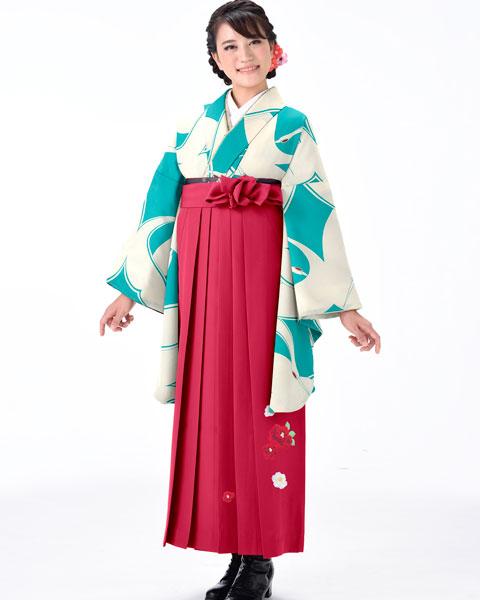 着物袴セット ジュニア用へ直し 144cm~150cm 着物生地は日本製 縫製と袴は海外 卒業式にどうぞ! 新品 (株)安田屋 p594281568