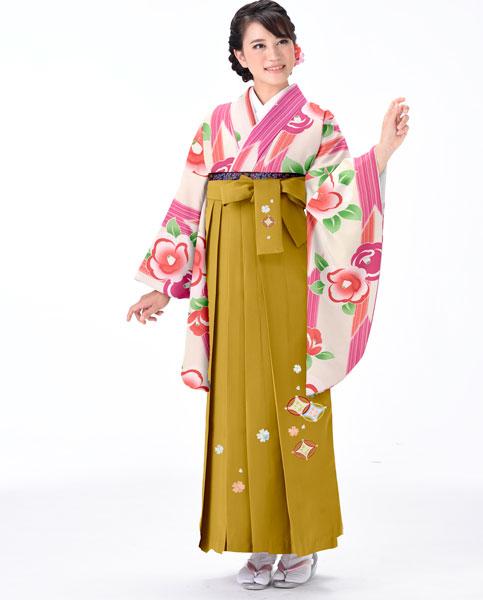 着物袴セット ジュニア用へ直し 144cm~150cm 着物生地は日本製 縫製と袴は海外 卒業式にどうぞ! 新品 (株)安田屋 u184773606
