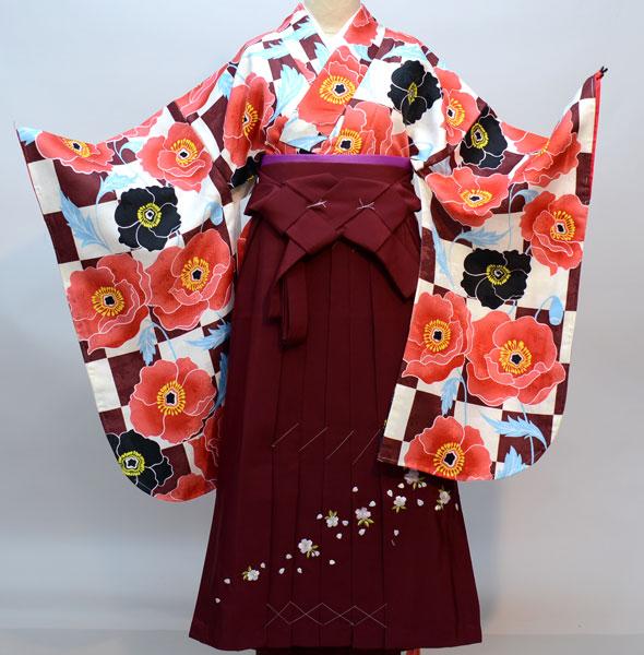 着物袴セット ジュニア用へ直し144cm~150cm CouCou Memoire ククー メモワール 新品(株)安田屋 k328272236