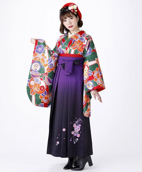 二尺袖 着物 袴フルセット 和遊日 ぼかし刺繍袴 卒業式に 新品 (株)安田屋 b376214083