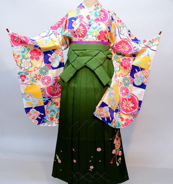 着物袴セット ジュニア用へ直し144cm~150cm 和遊日 ぼかし刺繍袴 卒業式に 新品(株)安田屋 g299039643