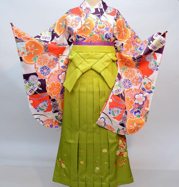 着物袴セット ジュニア用へ直し144cm~150cm 和遊日 ぼかし刺繍袴 卒業式に 新品(株)安田屋 e308549148