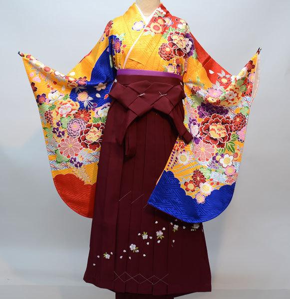 着物袴セット ジュニア用へ直し144cm~150cm From KYOTO 袴変更可能 新品(株)安田屋 q243478030