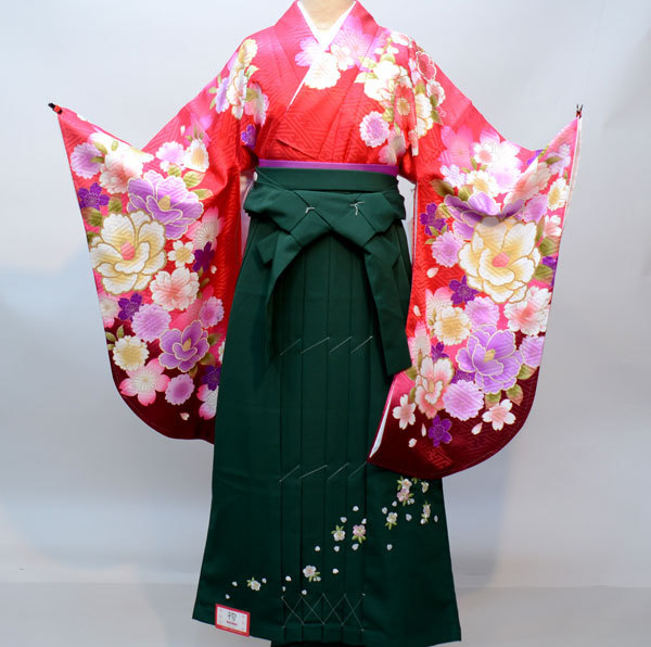 着物袴セット ジュニア用へ直し144cm~150cm From KYOTO 袴変更可能 新品(株)安田屋 x573855459